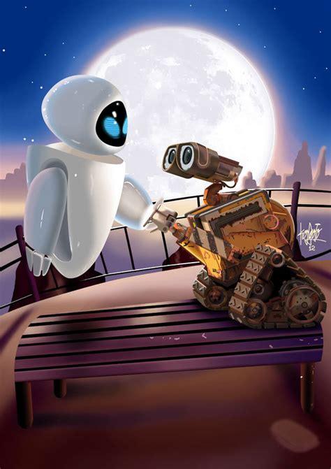 film robot love eva and wall e by manukongolo on deviantart