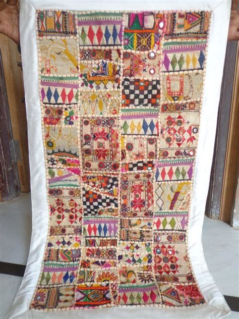 Indian Patchwork Wall Hanging - antique indian patchwork ethnic vintage decor wall