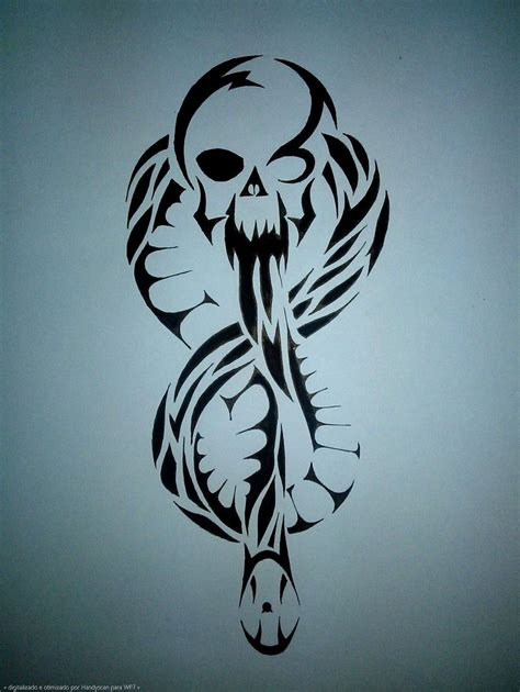 dark mark tribal pen drawing by thiagotakamura on deviantart