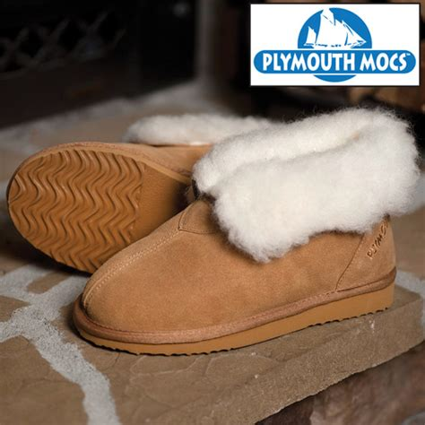 plymouth mocs mens boot slippers heartland america plymouth mocs mens ankle boot slippers