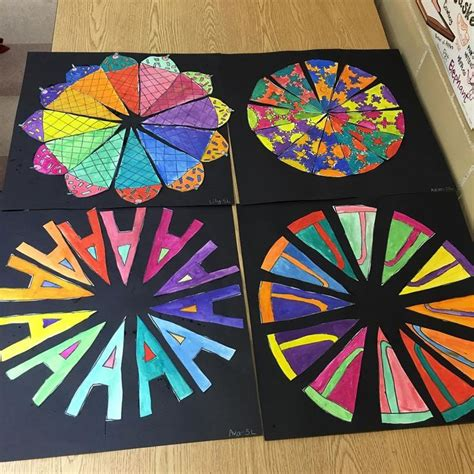 color wheel projects some finished 5th grade color wheels creative color