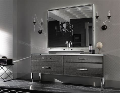 Hton Bathroom Vanity by Milldue Mitage 02 Silver Alligator Glass Luxury
