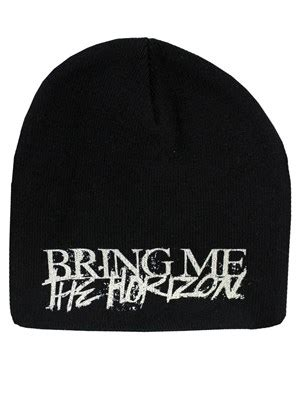Bring On The Beanies by Bring Me The Horizon Horror Logo Beanie Buy At