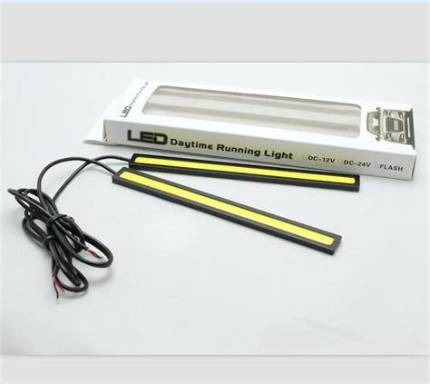 Led Drl 17cm Universal 17cm cob leds universal ultra thin digid led car daytime running light drl warning fog