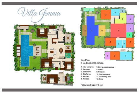 villa floor plan floorplan villa jemma seminyak 4 bedroom luxury villa