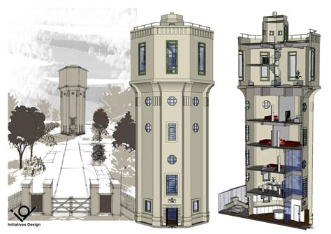Octagonal House place north west uu auctions water tower house project