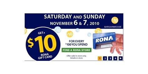 Gift Card Ideas Canada - rona canada 10 gift card with 100 purchase