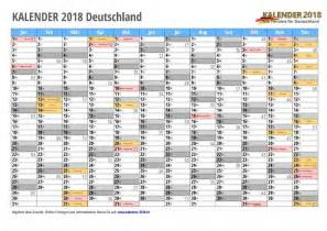 Calendar 2018 Deutschland Kalender 2018 Mit Feiertagen Ferien Kalenderwochen