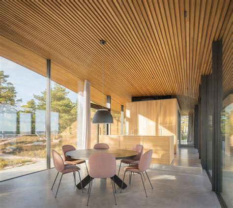 modern sea front summer glass house  finland