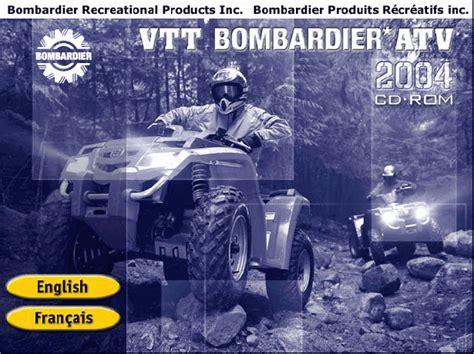 Bombardier Atv 2004 Parts Catalog Repair Manual Order