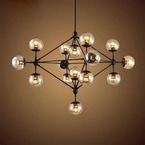 black iron ceiling lights retro industrial loft tea glass globe black iron