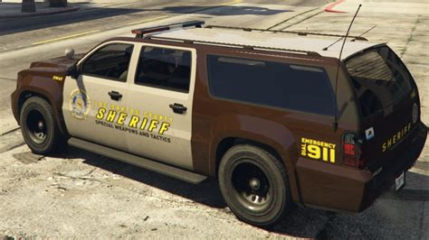 Swat S W A T Brown White brown los santos county sheriff vehicles swat gta5
