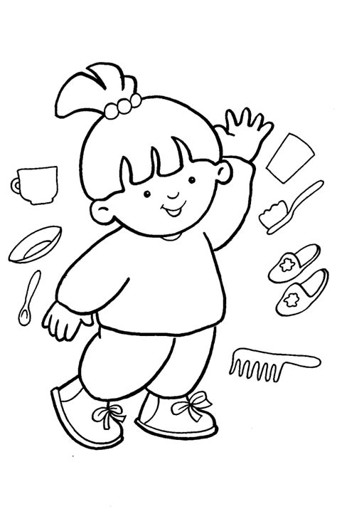 preschool coloring pages body parts free coloring pages of body parts