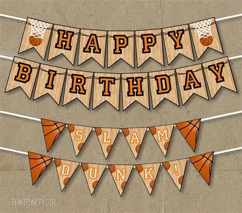 imagenes de happy birthday basketball basketball party happy birthday banners decorations