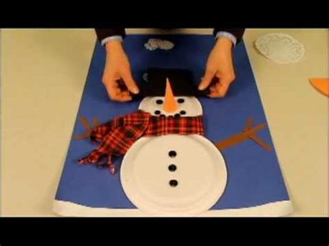How To Make A Paper Snowman - snowman made with paper plates