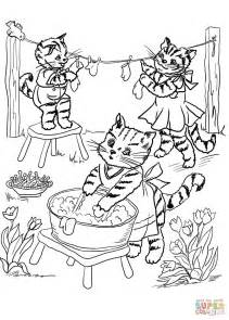 Three Kittens Coloring Pages three kittens coloring page free printable