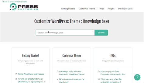 stron biz wordpress theme documentation template