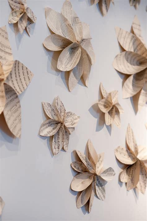 Blumen Wand Selber Machen by Wanddekoration Selber Machen Aus Papier Und Idee F 252 R