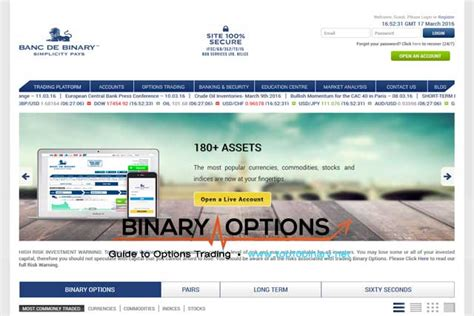 binary banc banc de binary option trading site an in depth review of