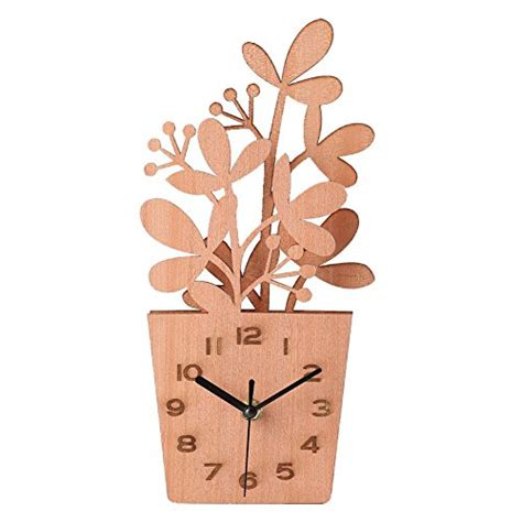 desk gifts for her authentic giftgarden wooden flowers pot desk clocks decor