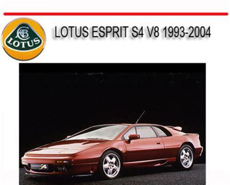 motor repair manual 1996 lotus esprit spare parts catalogs lotus esprit s4 v8 1993 2004 repair service and parts manual down
