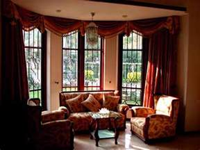 Pics photos bay window curtain ideas living room