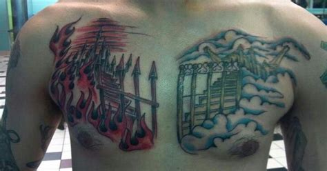 seven gates tattoo gates of heaven hell tattoos gates and