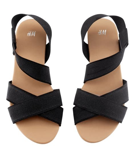 h and m sandals lyst h m sandals in black