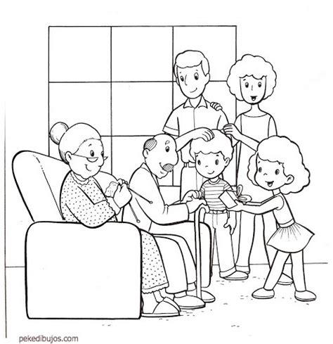 imagenes de la familia en ingles para niños dibujos del d 237 a de la familia para colorear