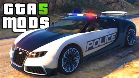 Gta 5 Polizei Auto by Gta 5 Pc Mods Bugatti Car Gta 5 Car Mod
