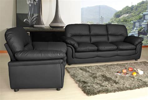 verona leather sofa new modern verona bonded leather sofa suite in black
