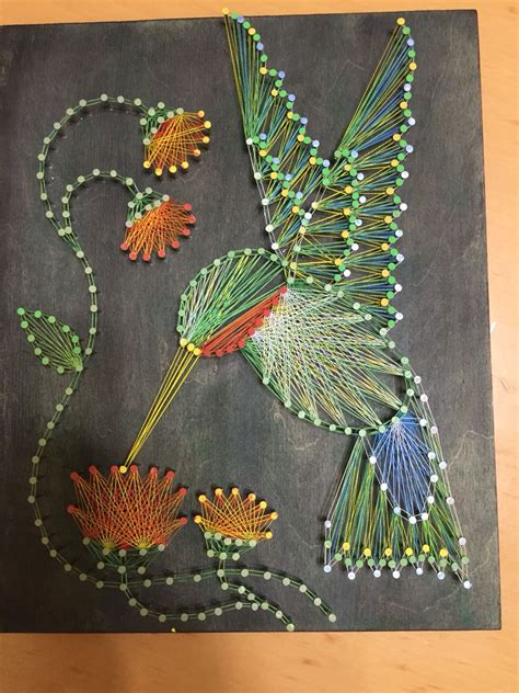 pattern project ideas hummingbird string art my string art pinterest