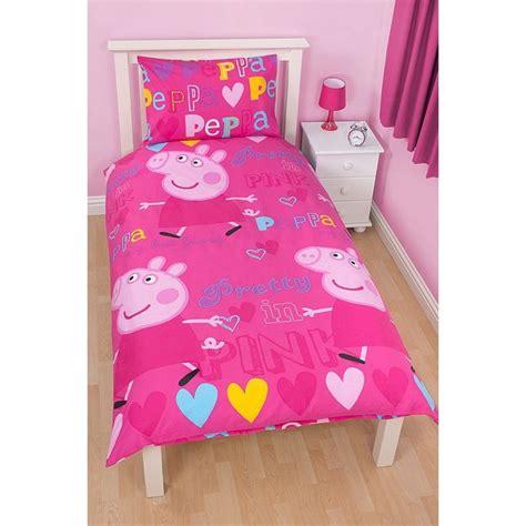 pig bedroom peppa pig single duvet set bedding asda direct