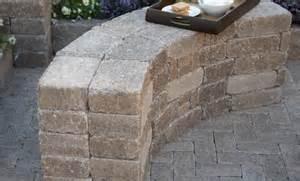 Pavestone Wall Diy Rumblestone Seat Wall And Pit Kit Installation