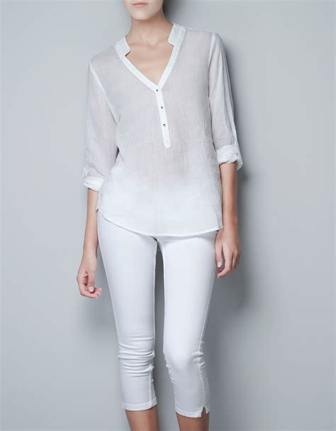 Zara White Blouse Diskon zara black and white blouse blouse with