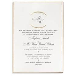 monogram etiquette for wedding invitations