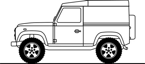 land rover drawing quot line drawing of land rover defender 90 quot prints by