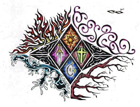 elemental tattoo designs 4 elements 4 elements element