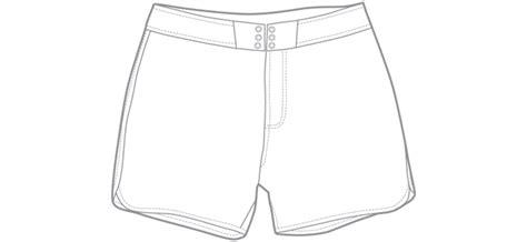 Board Shorts Template Boardshorts Vector
