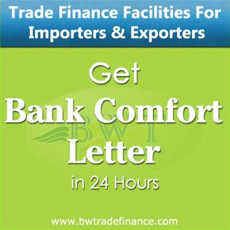 Bank Comfort Letter Bcl Avail Bank Comfort Letter For Importers And Exporters 47 Financial Services Equipment