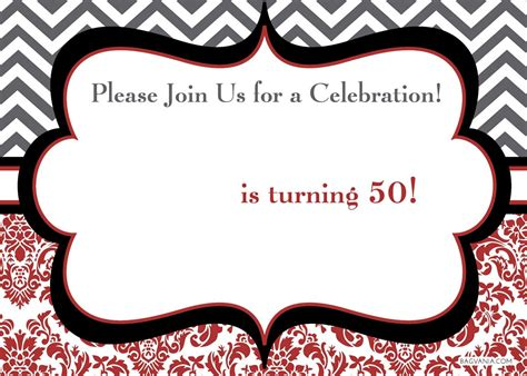template for 50th birthday invitations free printable free printable 50th birthday invitations bagvania free