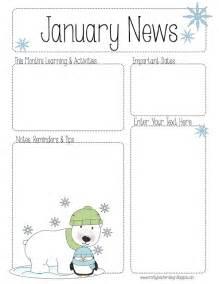 January Preschool Newsletter Template the crafty preschool winter newsletter template