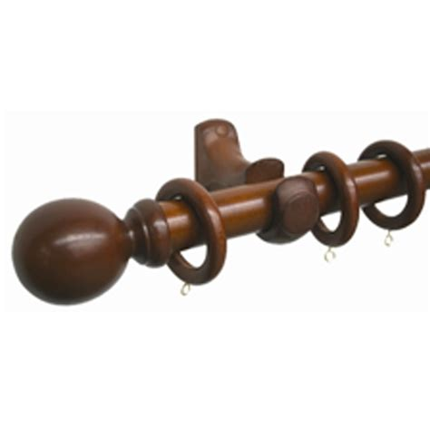 wooden curtain rod smart home products 160cm x 33mm walnut wooden curtain rod set