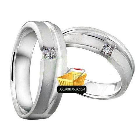 Cincin Kawin Perak Simple Pr005rg cincin kawin ameera emas putih 75 cincin kawin emas