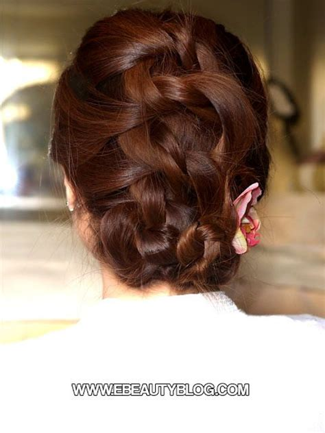 updo hairstyles knotted braid easy knotted braided updo hair tutorial hairstyles i