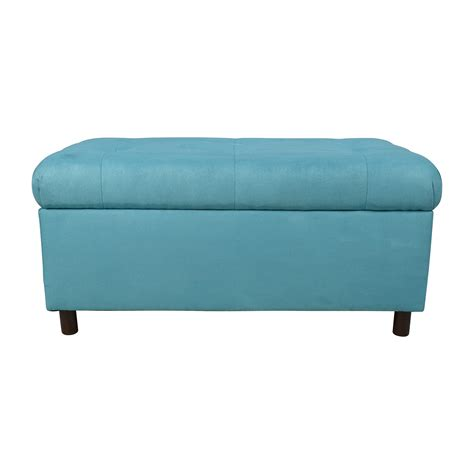 turquoise tufted ottoman entry way bench coupon code