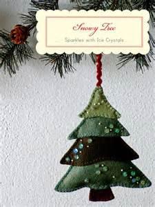 christmas tree ornament felt christmas pinterest