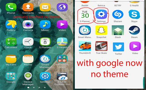 samsung themes without launcher why is google now launcher using samsung theme store icons