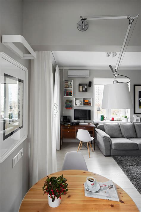 lovely Modern Small Apartment Design #2: Small-Bachelor-Pad-Idea-Designed-in-a-Modern-Retro-Style-homesthetics-2.jpg