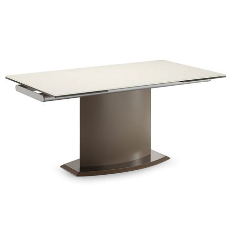 contemporary extension dining tables danae modern taupe extension dining table by domitalia